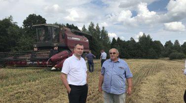 Уборочная кампания зерновых в СХЦ ОАО «МЗШ».